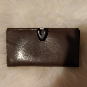 Gucci vintage leather wallet with Lucite clasp